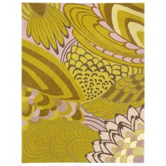 Angela Adams Morning Wings, Yellow and Pink, Rug & Tapestry, Handcrafted, Modern