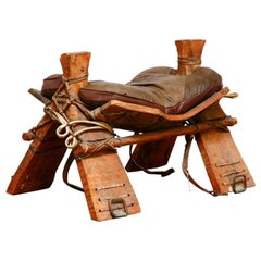 Authentic Moroccan Camel Saddle Stool Seat