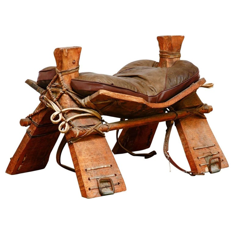 Authentic Moroccan Camel Saddle Stool Seat At 1stdibs