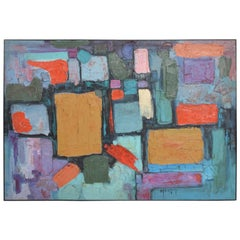 Modern Abstract Oil on Canvas, Signed 1994