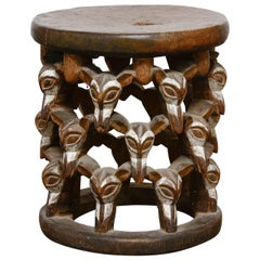 African Bamileke Stool or Drink Table from Cameroon