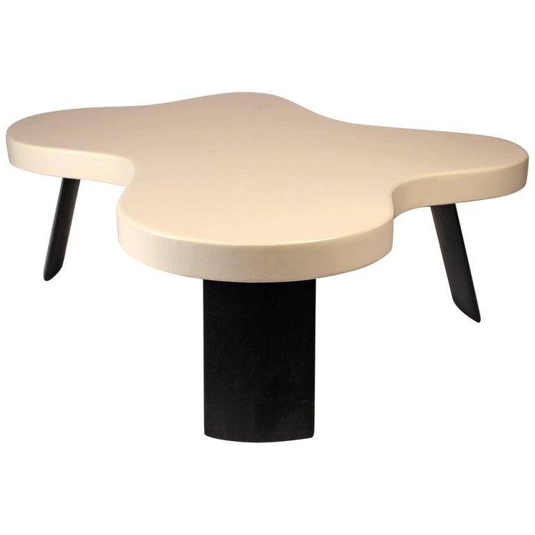 Paul Frankl Lacquered Cork 'Amoeba' Cocktail Table For Sale