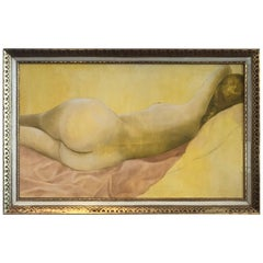 Mid-Century Nude Oil on Canvas by Stella Pettersen
