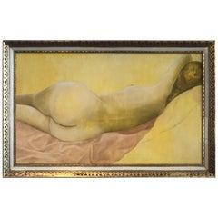 Mid-Century Nude Oil on Canvas by Stella Pettersen