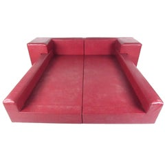 Italian Modern Queen Size Platform Bed