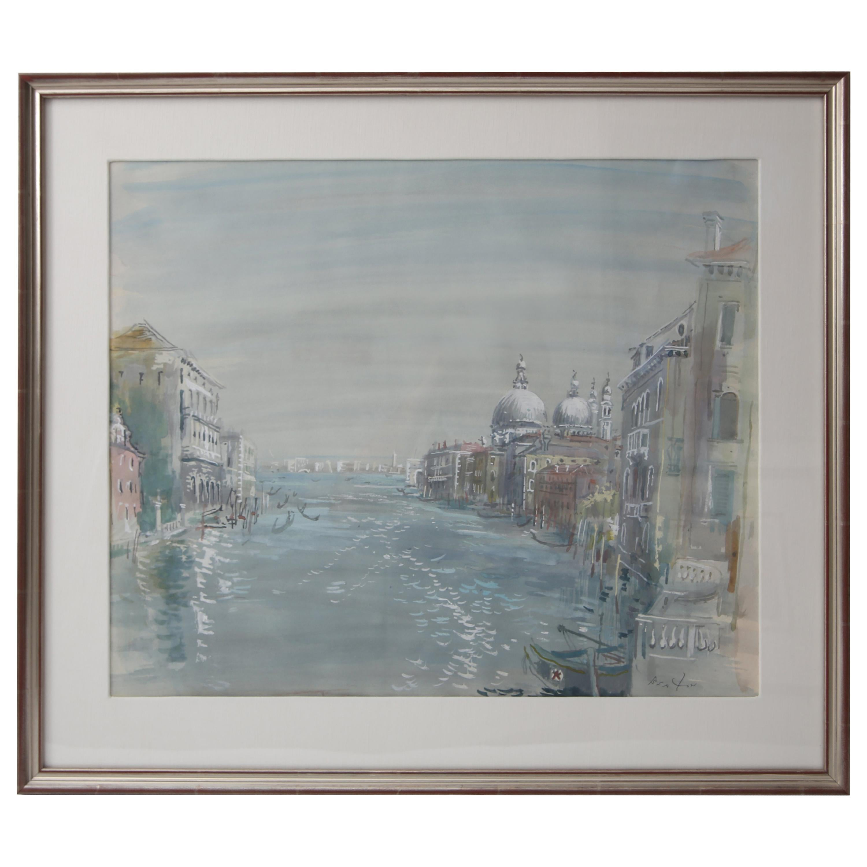 Grand Canal of Venice Watercolor
