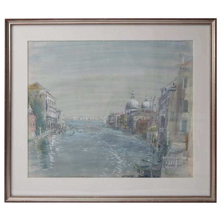 Grand Canal of Venice Watercolor For Sale