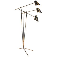 David Weeks Model '303' Articulated Brass Floor Lamp