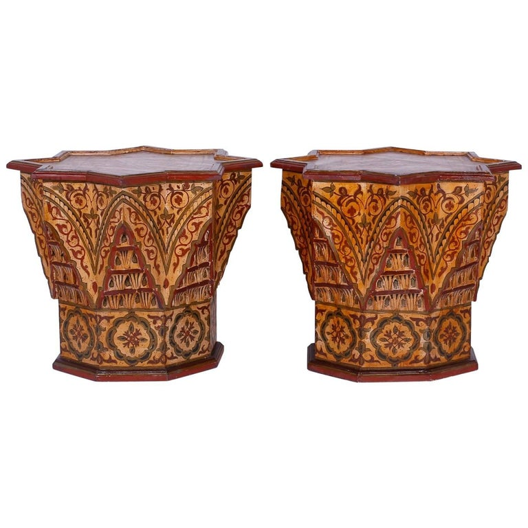 Pair of Moroccan Star End Tables