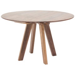 Contemporary Round Table, Walnut Designed by LCMX