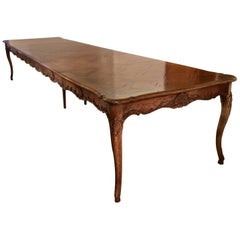 Don Ruseau Provincial Walnut Parquetry Dining Table Seats 12 (SATURDAY SALE)