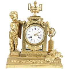 Gold Gilt Bronze Clock from the 18th Century