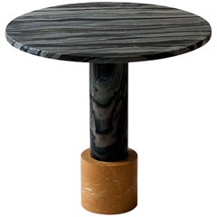 Strata Cocktail Table in Dune Yellow & Molten Black Marble by Raw Material