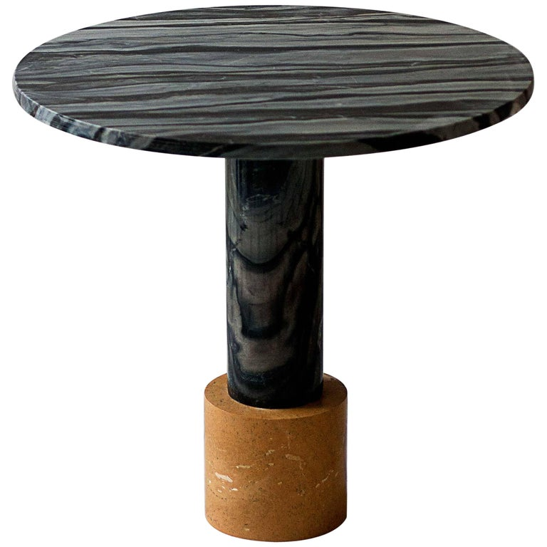 Yellow Marble Coffee Table: Strata Cocktail Table In Dune Yellow And Molten Black