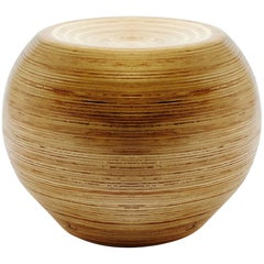 Bola Pouf in Sumaúma Plywood by Paulo Alves, Handcrafted in Brazil