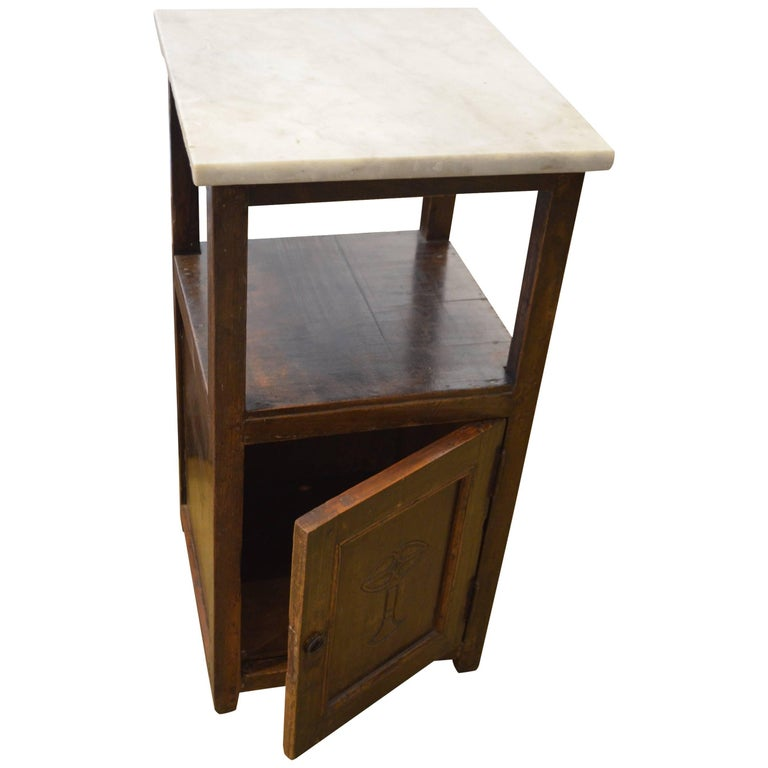 Andrianna Shamaris Marble Top Side Table For Sale