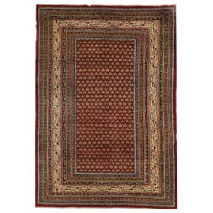 Vintage Indian Rug with Mir Boteh and Victorian Manor House Style