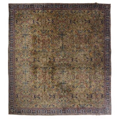 Antique Indian Agra Palace Size Rug with Renaissance Regency and Tudor Style