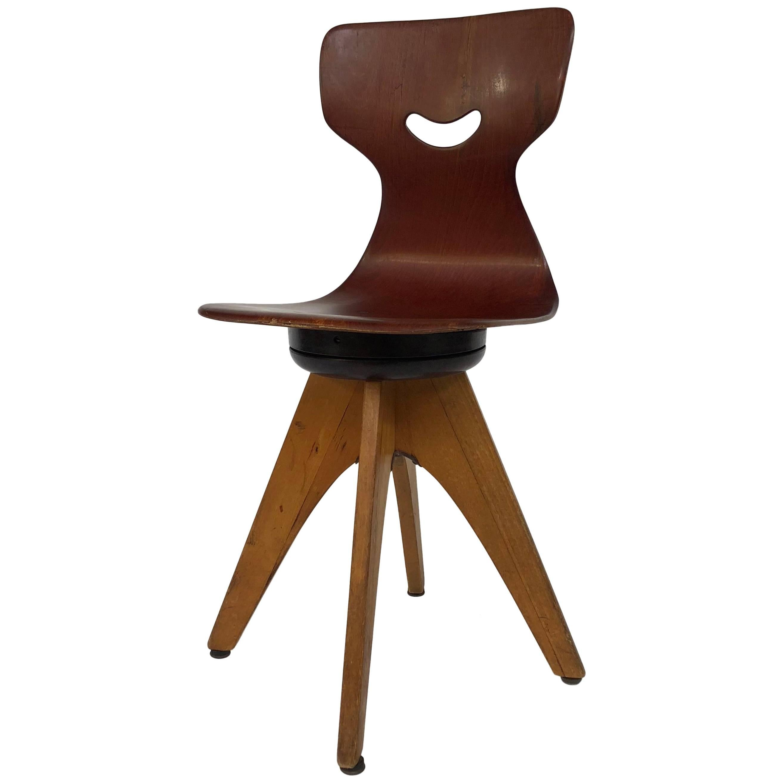 Adam Stegner Children's Swivel Chairs by Flötotto 1950s