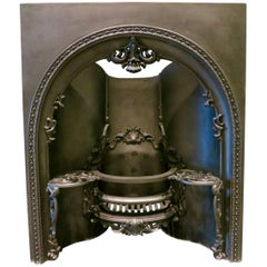 19th Century Arched Fireplace Insert