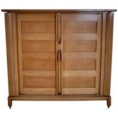 "Guillerme & Chambron ""Bouvine"" Veneer Oak Cabinet"