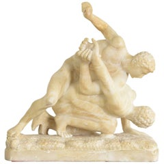 Alabaster Sculpture of the Uffizi Wrestlers
