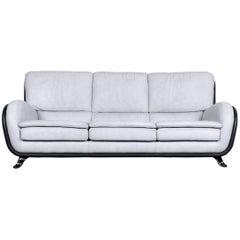 Nieri Designer Leather Sofa Grey Three-Seat