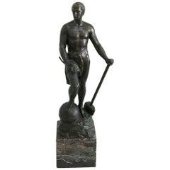 Bronze Statue of Adolf Muller-Crefeld