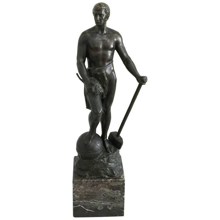 Bronze Statue of Adolf Muller-Crefeld For Sale