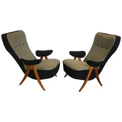 Pair of Model 105 Lounge Chairs by Theo Ruth for Artifort