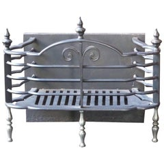 English Victorian Fireplace Grate or Fire Basket