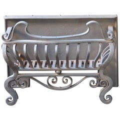 English Art Nouveau Fireplace Grate or Fire Basket