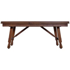 "Guillerme & Chambron ""Petronille"" Extending Oak Dining Table, 1966"
