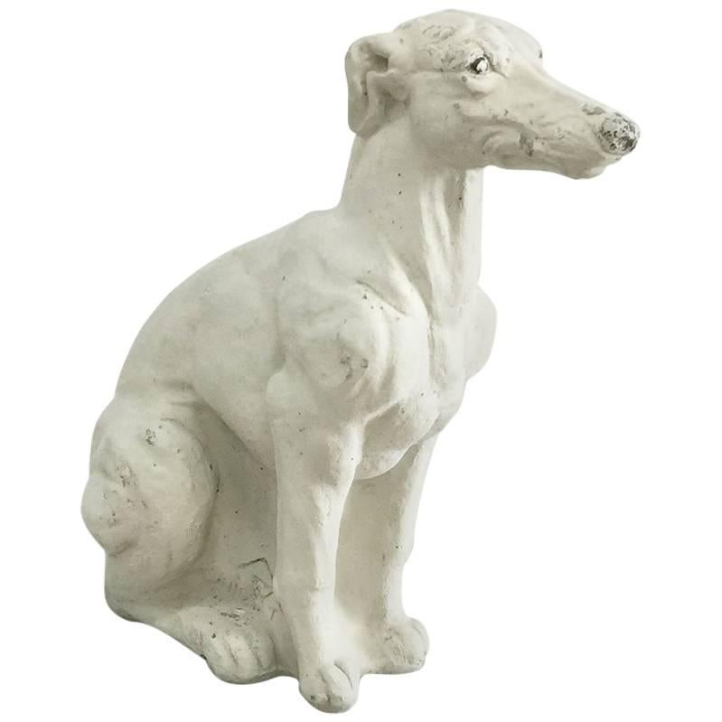 Concrete Statue of a Whippet Dog