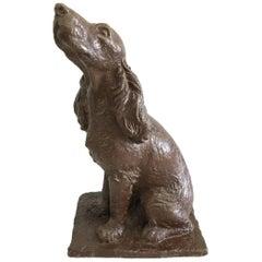 Bronze Statue of Cocker Spaniel, Statue of a Dog