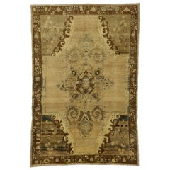 Vintage Turkish Kars Rug with Warm Russian Dachas Luxe Home Style