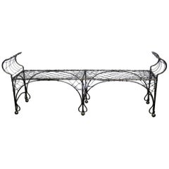 Wrought Iron French Regency Style Window Bench