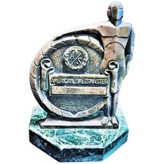 Vintage American Sculptural Award Prize Trophy, circa 1969
