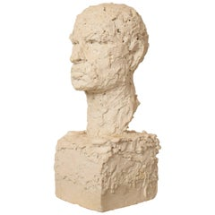 Early 20th Century Plaster Bust of a Man, circa 1920