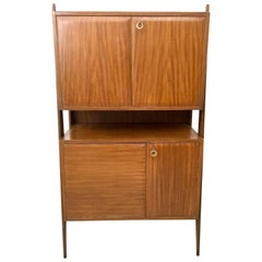 Beech, Mahogany and Maple Cabinet, Italy, 1950s