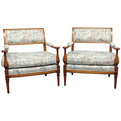 Pair of Louis XVI Style Marquis Attributed to Grosfeld House