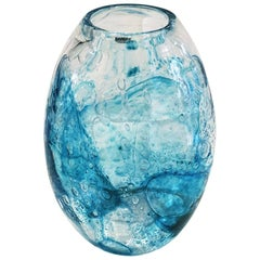 Alfredo Barbini, Murano Glass Vase, 1980, Italy