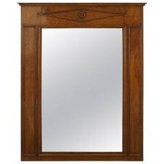 Austrian Biedermeier Style Vertical Wall Mirror