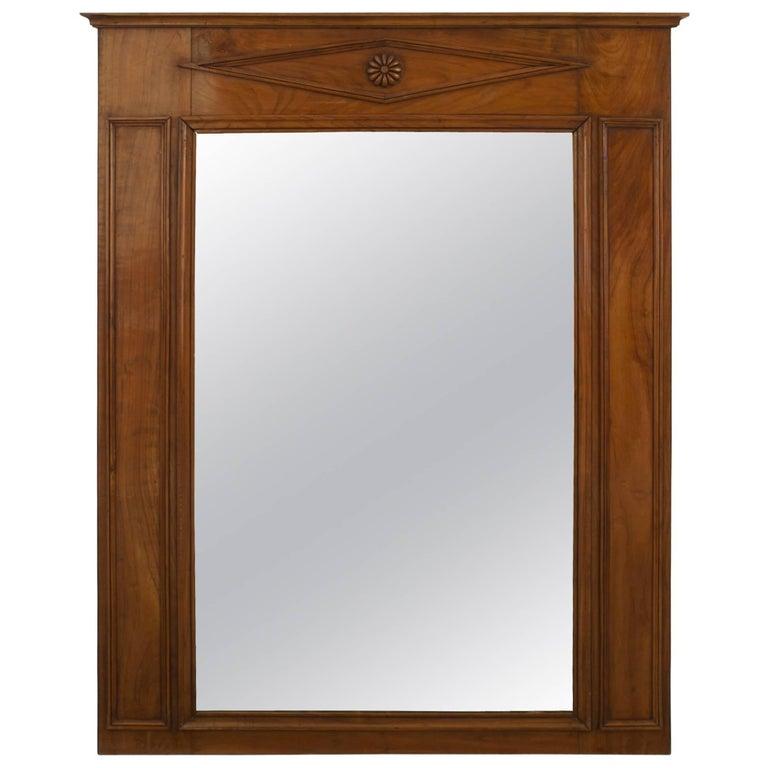 Austrian Biedermeier Style Vertical Wall Mirror For Sale