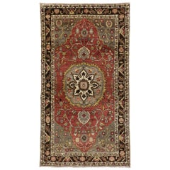 Vintage Turkish Oushak Rug with Traditional Style, Entry or Foyer Rug