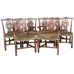 Set of Ten Early 20th Century Chippendale Chairs