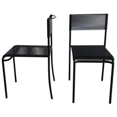 Spaghetti Side Chairs in Black by Giandomenico Belotti for Alias