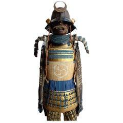 Japanese Samurai Armor with Original Wooden Box, 1790s