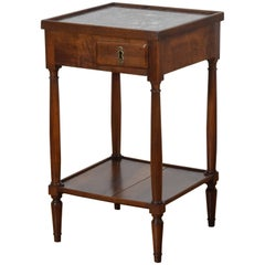 French Louis Philippe Walnut One-Drawer Table, Second Quarter 19th Century