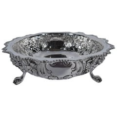Antique English Sterling Silver Footed Bowl